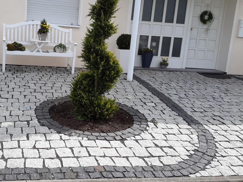 Granit Granitpflaster Pflasterstein Hellgrau  8//11 cm
