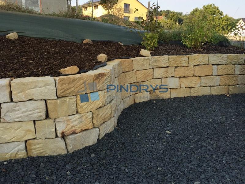 Sandsteinmauersteine 20x20x40 Sandstein Mauerstein Trockenmauer 2 x gesägt